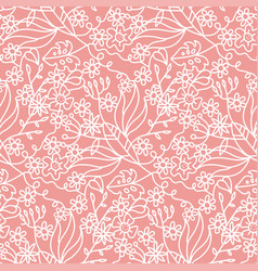 beautiful seamless pattern with summer flowers and vector image