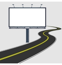 billboard with road vector image
