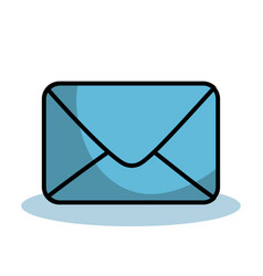 Blue envelope icon vector