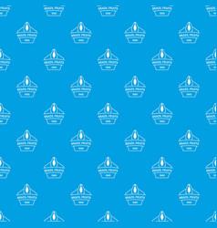 Brazil fruit pattern seamless blue vector