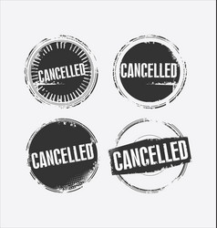 Cancelled grunge retro style isolated seal vector