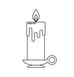 Candle in flat style vector