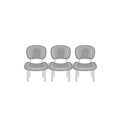 Chairs at airport icon black monochrome style vector image