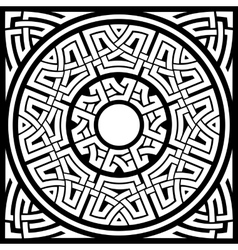 circle celtic frame vector image vector image