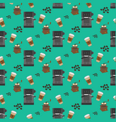 coffee machine pattern vector image