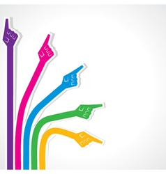 Creative colorful pointing hand vector