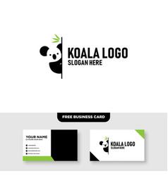 Creative koala leaf leaves tree logo design vector