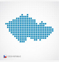 czech republic map and flag icon vector image