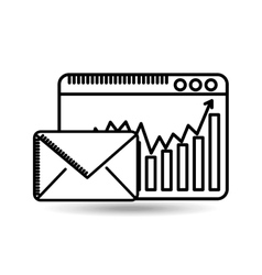 Email page web statistics graphic vector