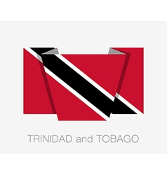 Flag of Trinidad and Tobago Flat Icon vector