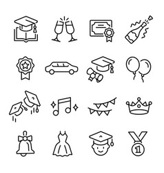 graduation student ceremony from school college vector image