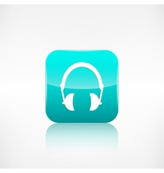 Headphones icon Musical accessory vector