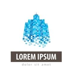 house city logo design template vector image