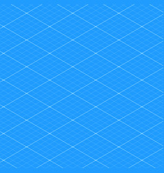 Isometric blueprint grid seamless pattern texture vector
