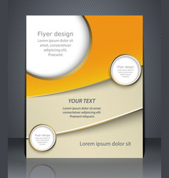 layout flyer business brochure flyer template vector image