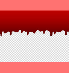 liquid paint cartoon red dripping stain oozing vector image