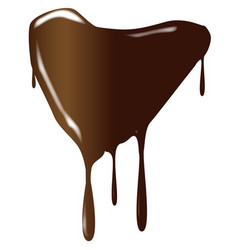 Melting chocolate heart vector