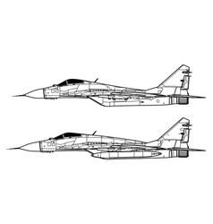 Mikoyan mig-29 fulcrum vector