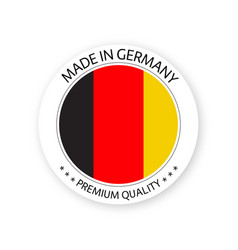 Modern made in germany label german sticker vector