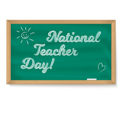 National holiday happy teacher day school vector