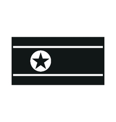 north korea flag monochrome on white background vector image