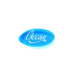 Ocean water logo vector