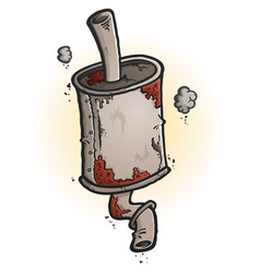old rusty muffler cartoon vector image