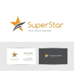 Orange star logo vector