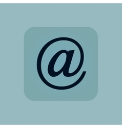Pale blue e-mail icon vector