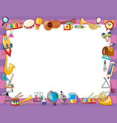 paper template with instruments on border vector image
