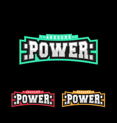 power logo design retro sport strong logotype vector image