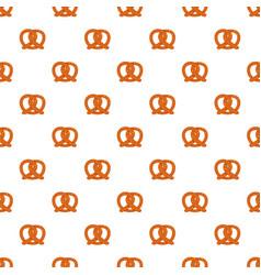 Pretzel pattern seamless vector