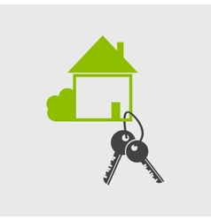 Real estate logo designsymbol vector image