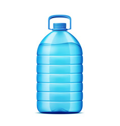 realistic plastic bottle for fresh water vector image