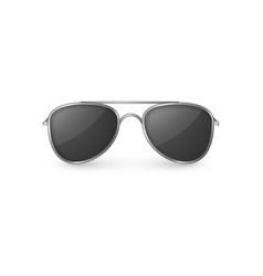 realistic sunglasses front view plastic glasses vector image