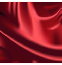 Red fabric drapery background vector