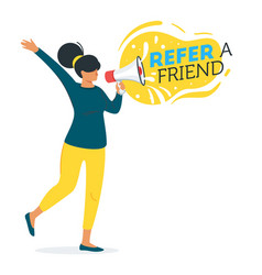 refer a friend concept vector image
