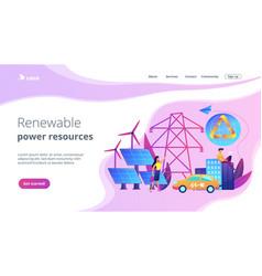 renewable energy concept landing page vector image