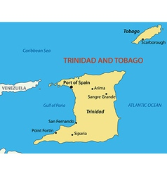 Republic of trinidad and tobago - map vector