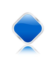 Rhomb icon blue vector