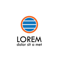 Round strip logo vector