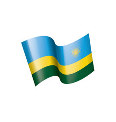 rwanda flag on a white vector image