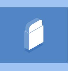 school eraser isometric icon vector image