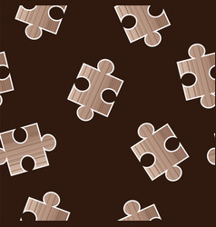 Seamless pattern with puzzle - jigsaw pieces vector