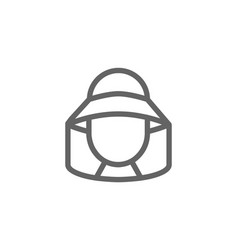 simple beekeeper line icon symbol and sign vector image