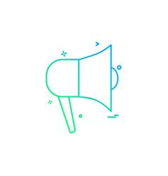 speaker sound media voice icon design vector image