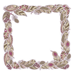 square decor element in a shape of a frame in vector image