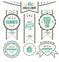 Summer Events Related Vintage Labels vector