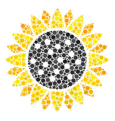 sunflower mosaic of dots vector image