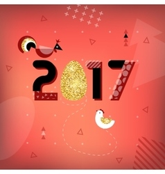 Symbol of good luck in 2017 Rooster vector